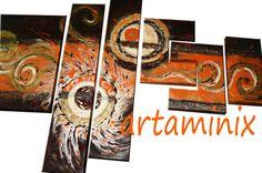 Astratto vortici arancioni lingue di fuoco (2012) #handmade #pop #art #design #paint #abstract #gift