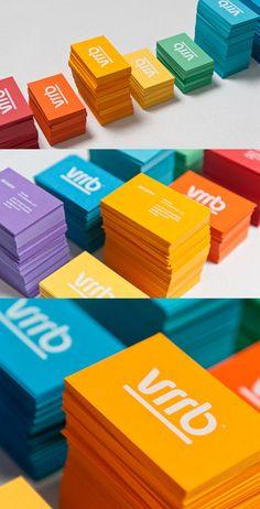 Colorful Business Cards; blue; font; underline; KISS it