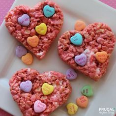 Conversation Hearts Rice Krispies Treats  from Frugal Coupon Living and Rice Krispie Treats for Every Season and Taste on Frugal Coupon Living