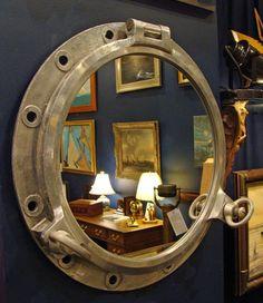 Nautical Mirror Made With Authentic Aluminum Porthole
