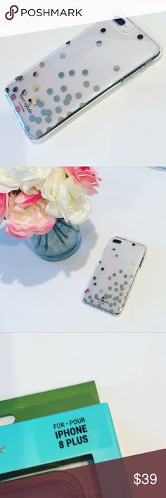 New Kate Spade Confetti IPhone 6/6s/7/8Plus Case Embrace your sophisticated side with this kate spade new york case. Its shock-resistant bumper covers fragile areas of your Apple iPhone 6s Plus/ 6 Plus/7 Plus and 8 Plus if it's dropped, and the glossy finish over the floral pattern provides a bit of extra shine. This kate spade new york case has a sleek profile that doesn't add extra bulk. No trades  No lowball offers please Firm unless Bundled with seller discount Kate Spade Accessories…