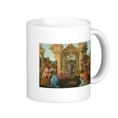 Adoration of the Magi by Botticelli Mugs