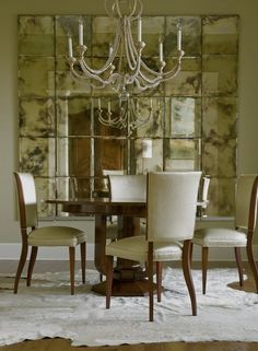 The Dining Room of a Penthouse in Charleston, SC  Dining  Eclectic by Elizabeth Hagins Interior Design