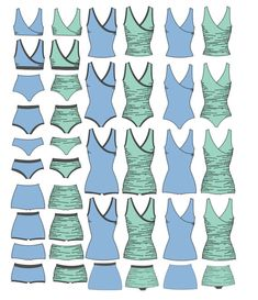 The First Crush Swimsuit Pattern is a versatile sewing pattern to give you almost 200 swimsuit configuration options. With cute ruched side detailing, or the option for smoother sides, this swimsuit has a feminine touch and can be made exactly how you want it! This suit has options for 1 piece, bikini top, tankini top, swim dress length top, regular waisted brief or boyshort, and high waisted brief or boyshort silhouettes. Each of these silhouettes has options multiple styling options as…