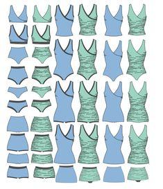 Swimsuit PDF Sewing Pattern First Crush Swimsuit von RadPatterns