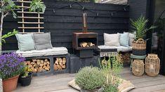 Outdoor Spaces, Outdoor Living, Outdoor Decor, Back Gardens, Outdoor Gardens, Summer House Interiors, Narrow Garden, Contemporary Garden Design, Back Garden Design