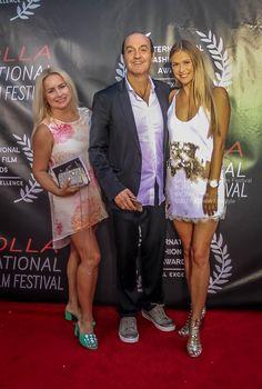 Rossano Maniscalchi, Elena Lucas, Natalia Ustsova La Jolla Fashion Film Festival UC San Diego #fashion #style #Redcarpet #fashion #LJFFF #4ChionStyle La Jolla, Film Fashion, Red Carpets, Film Festival, San Diego, Sequin Skirt, Sequins, Celebrities, Skirts