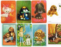 Swap cards from the 70's. I was obsessed with these as a little girl and spent hours sorting and arranging them. Sold my collection on eBay a few years ago.