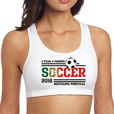 Womens Yoga Euro 2016 Soccer Portugal Sport Bra White ** Find out more about the great product at the image link.