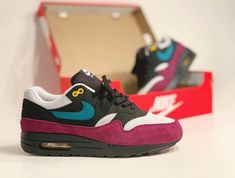 info for bf357 7bf7a Nike R Air Max 1 Geode Teal pour fille (1) Chaussures Nike, Air