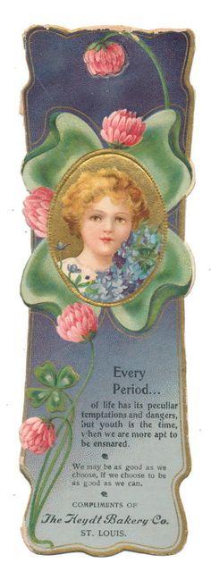 Ellen Clapsaddle Bookmark - Boy with Clover Ad for Heydt Bakery St. Louis | eBay