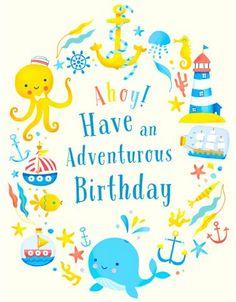 Birthday Card - Emily Emerson #birthdaycard #whale #octopus #illustration #cute…