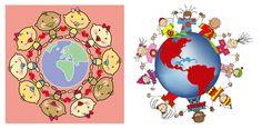 Niños alrededor del mundo para imprimir