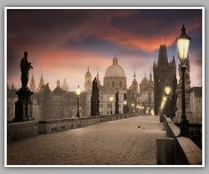 Charles Bridge morning photograph  Prague by WPThayerPhotography, $25.00