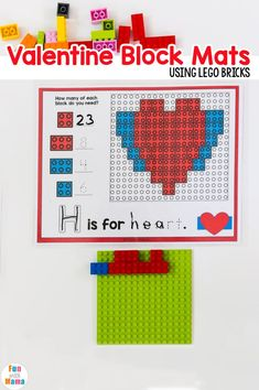 Lego Letters - Lego Alphabet Mats - Fun with Mama Alphabet Letter Crafts, Uppercase And Lowercase Letters, Alphabet Activities, Color Activities, Lego Letters, Printable Alphabet Worksheets, Learning Shapes, Early Math, Learning The Alphabet