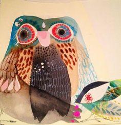 Owl Art, Bird Art, Bird Drawings, Drawing Birds, Bird Patterns, Australian Art, Bird Illustration, Watercolor Bird, Art Lesson Plans