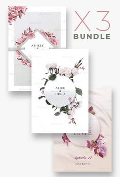 3 Wedding Flyer Templates | Bundle - Creativeflyers