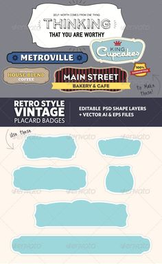 Retro Vintage Style Placard Banners - GraphicRiver Item for Sale