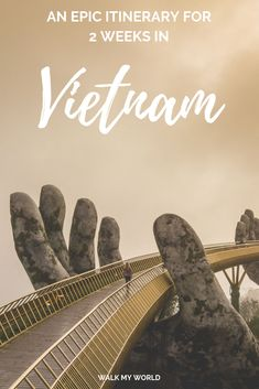 A comprehensive 2 week Vietnam itinerary for one of the best trips you& ever have! Take in Hanoi, the world wonder Halong Bay, the stunning Ninh Binh, explore some of Vietnam& biggest caves in Phong Nha, the history of Hue and the incredible Hoi An. Hoi An, Places To Travel, Places To See, Travel Destinations, Travel Tips, Travel Advisor, Travel Deals, Travel Essentials, Travel Guides