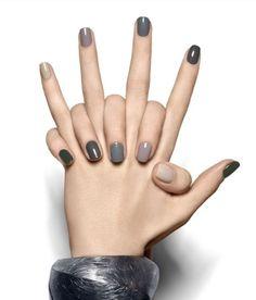 Monochromatic Neutral Modern Nails Nailart Naildesign Manicure