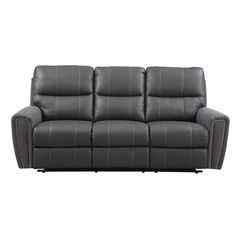 You'll love relaxing in this ultra comfortable Emerald leather and microfiber power dual reclining sofa. Featuring an all wood frame and foam seat cushions, you'll be able to enjoy this chair for years to come.