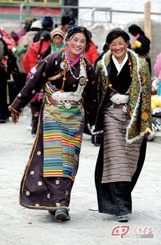 Love the traditional dress in Tibet