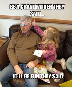 "LMAO! This is about as cute as when my grand daughter ""fixed"" my husband's beard into pink pig tails!"