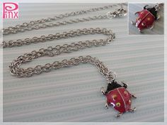 'Pinx Jewelry's Ladybug Necklace ' is going up for auction at  4pm Wed, Jun 20 with a starting bid of $5.