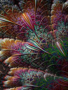 A Flurry of Colour - fractal art.