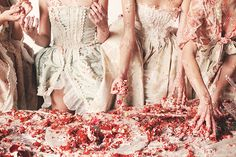 You're My Obsession: Sofia Coppola + A Marie Antoinette Style Cake Fight - Inward Facing Girl by Melanie Biehle Sofia Coppola, Marie Antoinette, Food Styling, Rococo Fashion, Ellen Von Unwerth, Thing 1, Event Themes, Rococo Style, Let Them Eat Cake
