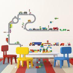 Kinderzimmer junge wandgestaltung auto  Spielzeug auf Leinwand | Autos, Kind und Spielzeug