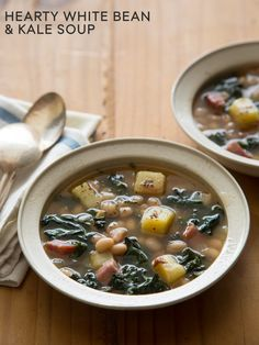 Hearty White Bean and Kale Soup