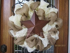 Western style wreath created by Leslee at Bienvenue Designs Etsy Shop and Facebook Page - simply stunning!