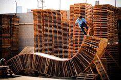 looks dangerous. #pallets #upcycled #skateboard