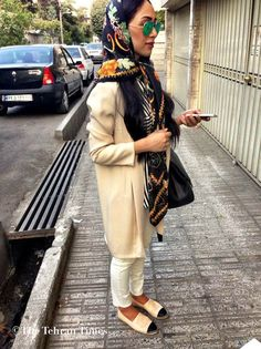 Tehran's Street Style - scarves and big coats