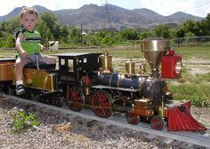 Dad built this train, live steam !!