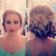 Updo and makeup by Janessa Wendlandt