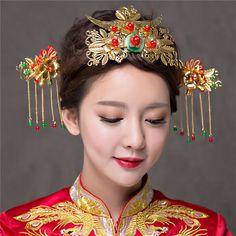 Handmade Tassel Bridal Crown Vintage Brides Hair Accessories Classical Chinese Wedding Headdress Jewelry Hair Sticks Tiara Crown-in Hair Jewelry from Jewelry & Accessories on Aliexpress.com | Alibaba Group