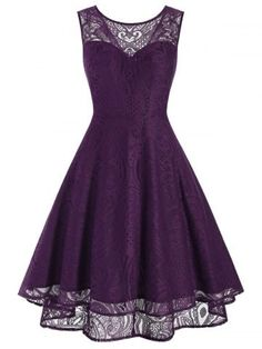 Floral Embroidery Dress, High Low Prom Dresses, Stripped Dress, Vintage Style Dresses, Sweet Dress, Retro Dress, Purple Dress, Purple Cocktail Dress, Party Dress