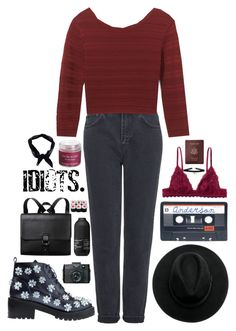 """""""Otherside// Read :)"""" by blood-under-the-skin ❤ liked on Polyvore featuring Topshop, Rebecca Minkoff, Anouki, Monki, Boohoo, Holga, Living Proof, Sara Happ and Royce Leather"""