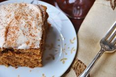 Vegan Spice Cake with Cream Cheese Frosting