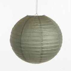 Lampion - Grijs (30 cm & 40 cm), www.instyledecoraties.nl