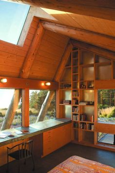 At 325 sq ft, this small off-grid building on the Oregon coast serves as a guest house and a writing studio all wrapped up in a single, small green house. Designed by Obie Bowman, a Sonoma County, …