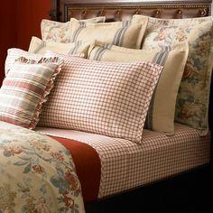 Ralph Lauren Bedding Discontinued   lauren by ralph lauren bedding lake house red cream tattersal plaid 4 ...