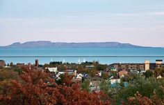Thunder Bay, Ontario with Sleeping Giant in the background
