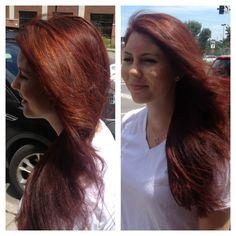 Keune color - Natural Red. Great Hair!!
