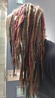 Colourful dreadlocks