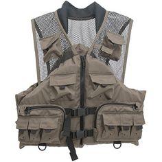 Master Sportsman Fishing Life Vest, Taupe
