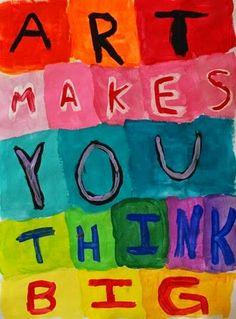 ☮ American Hippie Art Quotes ~ Think Big Citation Art, Art Room Posters, Psy Art, Artist Quotes, Creativity Quotes, Arts Ed, Art Classroom, Summer Art, Art Plastique