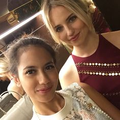 """The Time Place Magazine on Instagram: """"Star studded opening, here @pevpearce with @diannaagron #toryburchparis"""""""